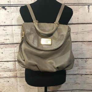 Marc Jacobs taupe backpack purse